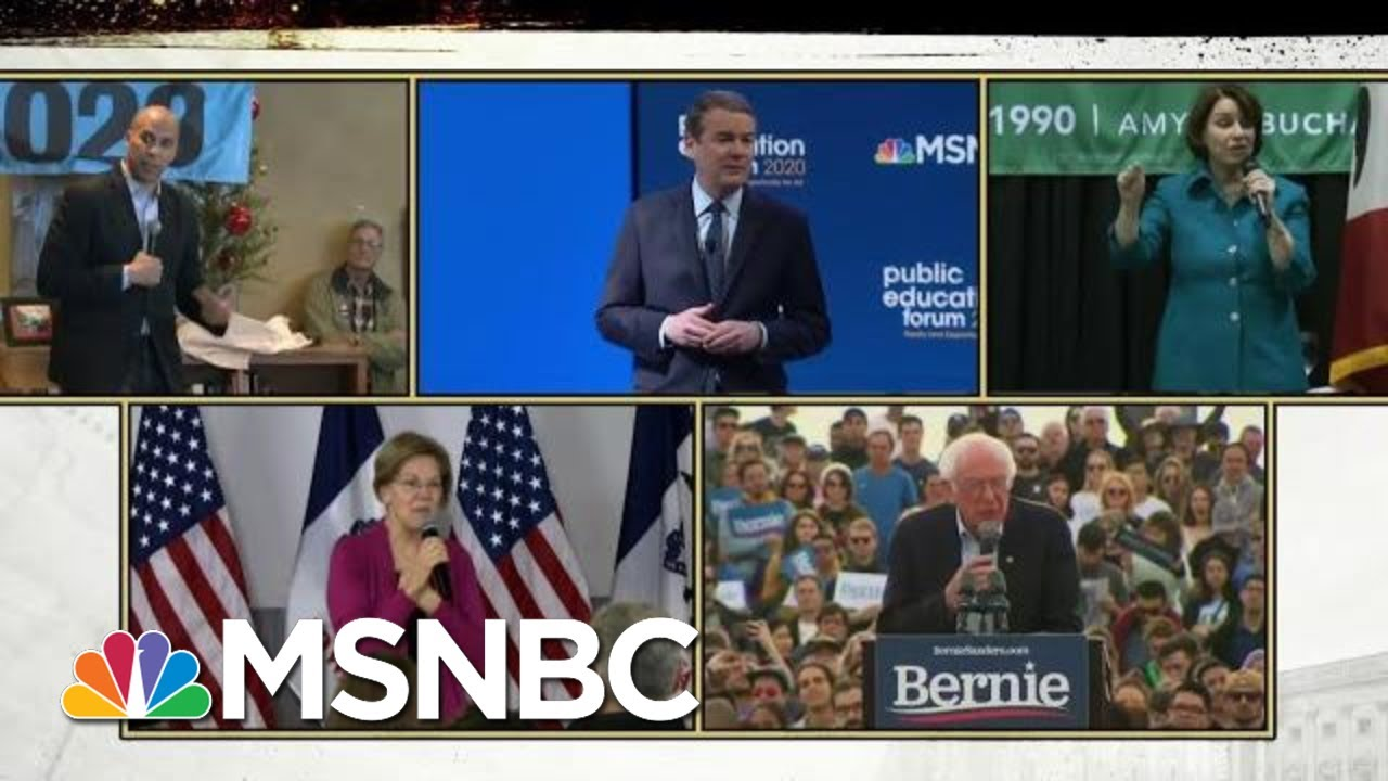 2020 Democrats Juggle Impeachment And Running For President | Deadline | MSNBC 4