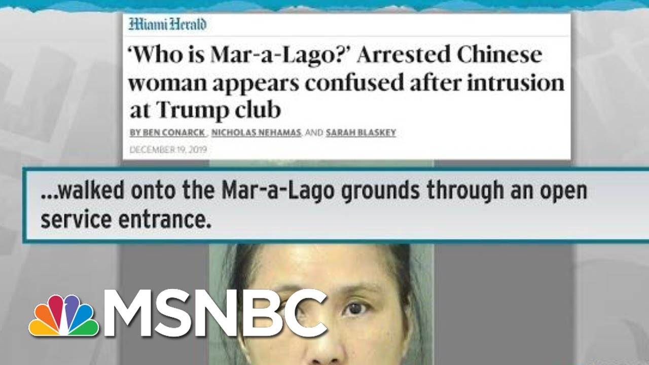Trespassing Chinese Nationals Suggest An Alarming Pattern | Rachel Maddow | MSNBC 8