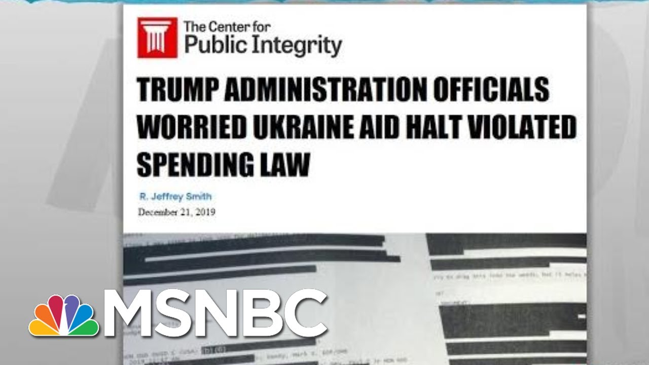 New Evidence Shows Fears About Legality Of Trump Ukraine Scheme | Rachel Maddow | MSNBC 8