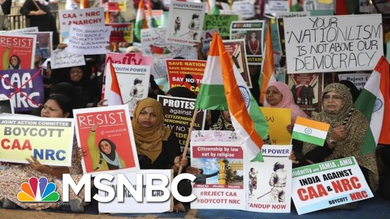 India's Prime Minister Facing Severe Backlash Over Anti-Muslim Citizenship Law | All In | MSNBC 3