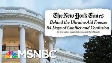 New Report Details Unrest Among Trump Officials As Trump Withheld Ukraine Aid | Deadline | MSNBC 6