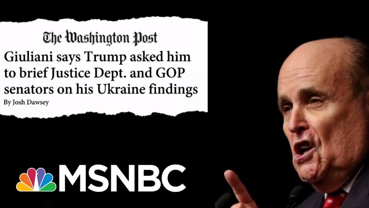 Daily Beast: GOP Senators Avoiding Rudy Giuliani Ahead Of Impeachment Trial | Hardball | MSNBC 8