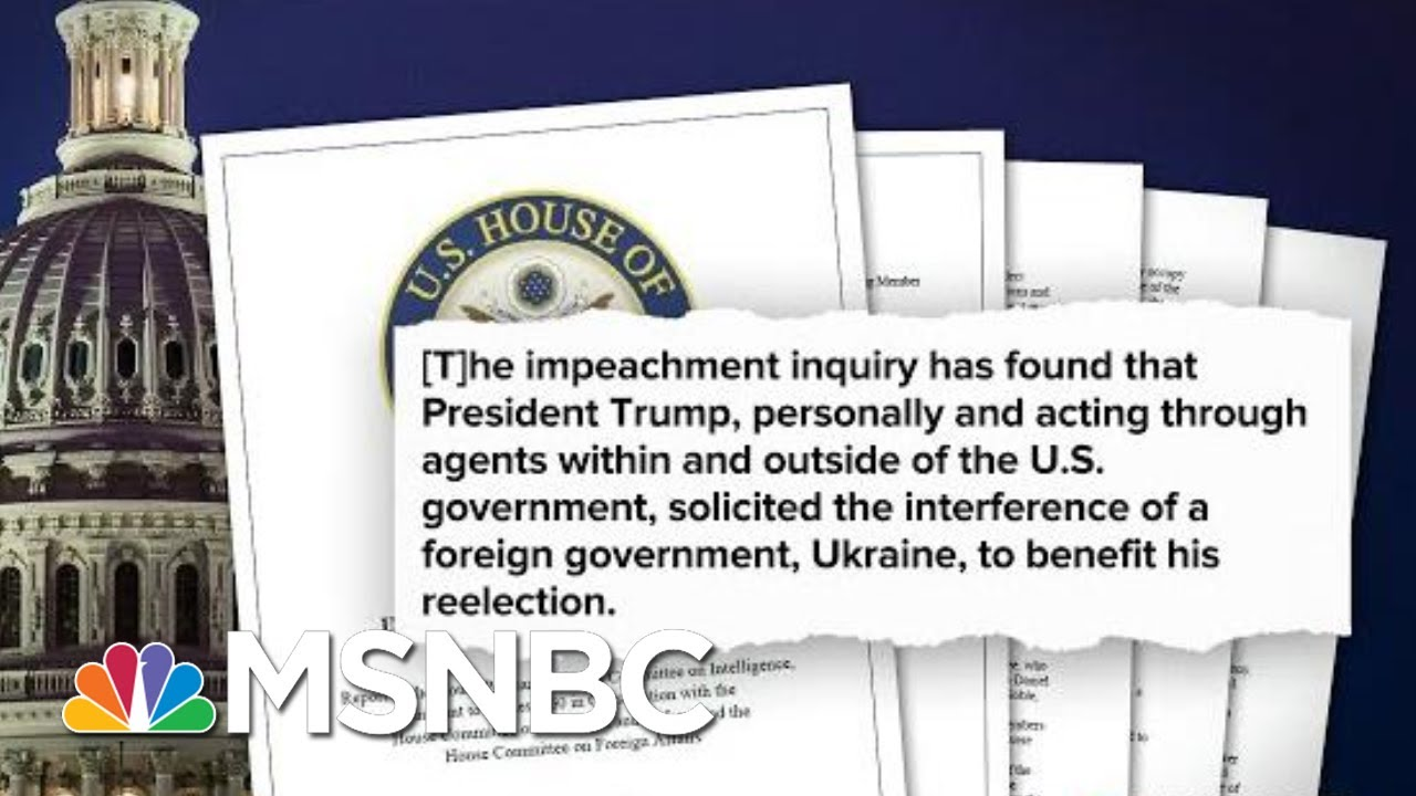 House Intelligence Committee Releases Impeachment Report | Deadline | MSNBC 3