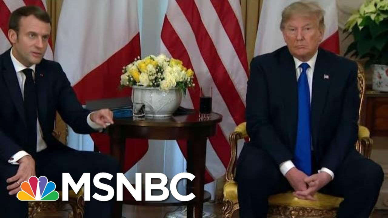 President Donald Trump Clashes With Macron On NATO At Summit Meeting | MTP Daily | MSNBC 11