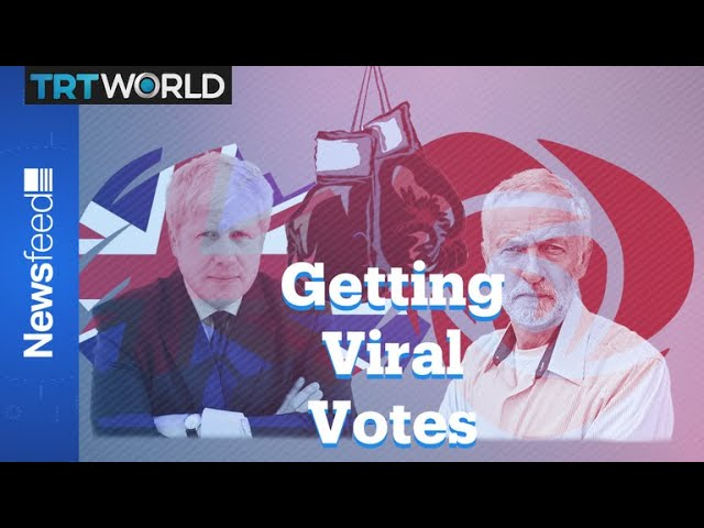 Boris Johnson and Jeremy Corbyn campaign with parodies 6