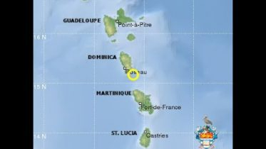 5 2 MAGNITUDE EARTHQUAKE RECORDED SOUTH EAST OF DOMINICA ON WEDNESDAY 6