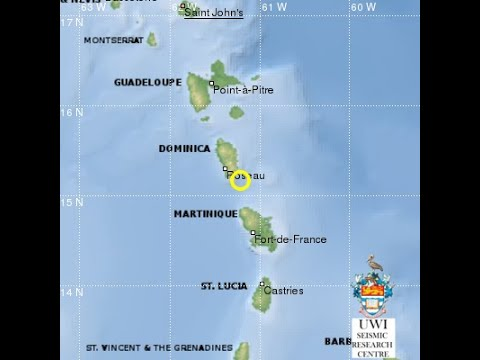 5 2 MAGNITUDE EARTHQUAKE RECORDED SOUTH EAST OF DOMINICA ON WEDNESDAY 1