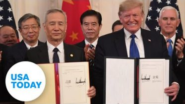 President Trump to sign 'Phase One' of China trade deal | USA TODAY 6