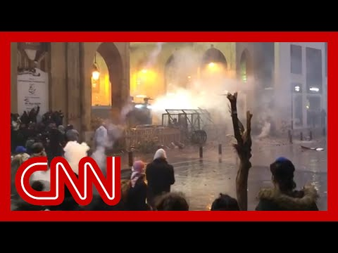 Protests turn violent in streets of Beirut, Lebanon 1