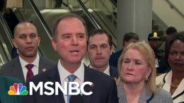 Rep. Adam Schiff: Trump's Defense Team Made Arguments 'Born Of Desperation'   MSNBC 4