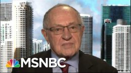 Derschowitz: If Trump Was Impeached For Bribery, Extortion, Issue Would Be 'Very Different' | MSNBC 7