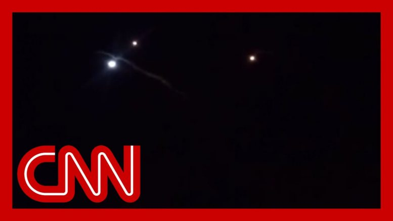 Video appears to show rockets in air at airbase housing US troops 1