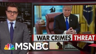 Chris Hayes On Our Pro-War Crimes President   All In   MSNBC 6