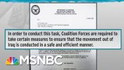 Iraq Withdrawal Letter Screw-Up Shows Pentagon Tainted By Trump | Rachel Maddow | MSNBC 4