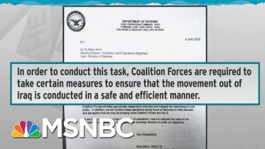 Iraq Withdrawal Letter Screw-Up Shows Pentagon Tainted By Trump | Rachel Maddow | MSNBC 6