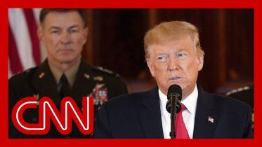 Watch President Trump's speech after Iran's strike 6