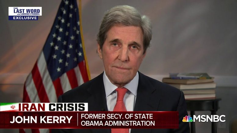 Kerry: Other Admins Considering Killing Soleimani, But Cost Too Great | The Last Word | MSNBC 1