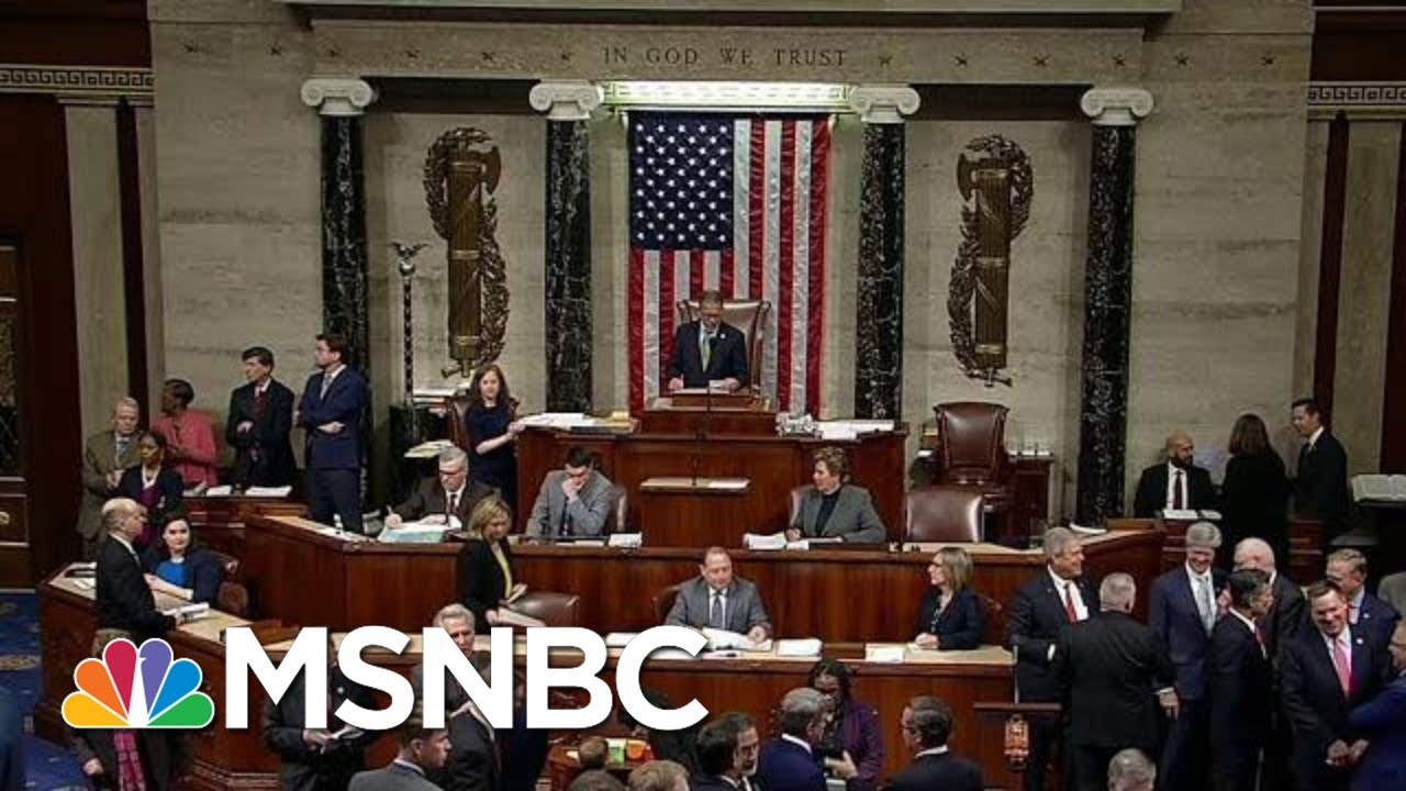 House Passes Measure Seeking To Limit Trump's Military Actions Against Iran   Hardball   MSNBC 4