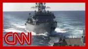 See Russian warship's 'aggressive' move near US ship 5