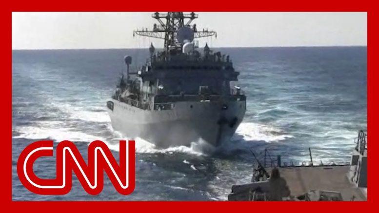 See Russian warship's 'aggressive' move near US ship 1