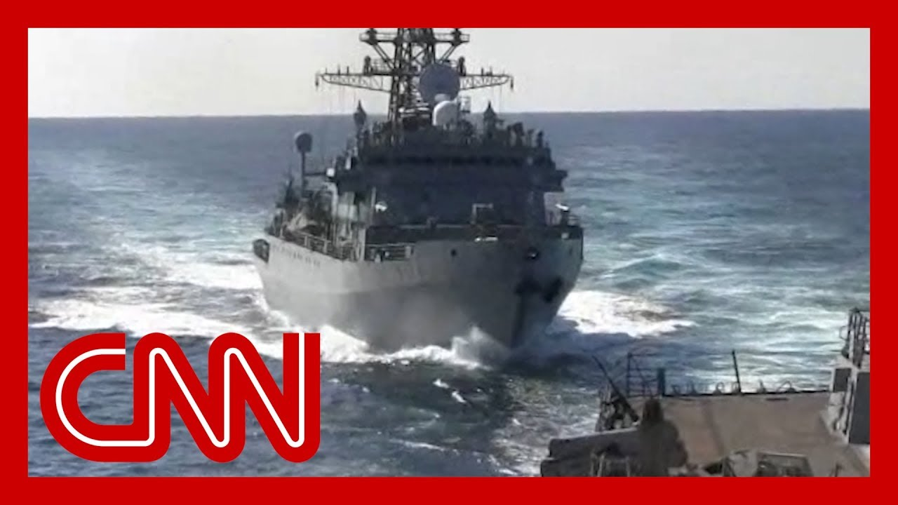 See Russian warship's 'aggressive' move near US ship 2