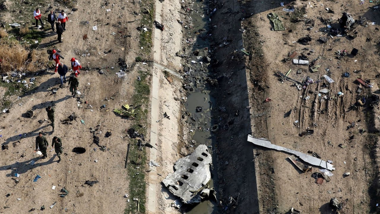 What could investigators learn from the crash site of Flight PS752 8
