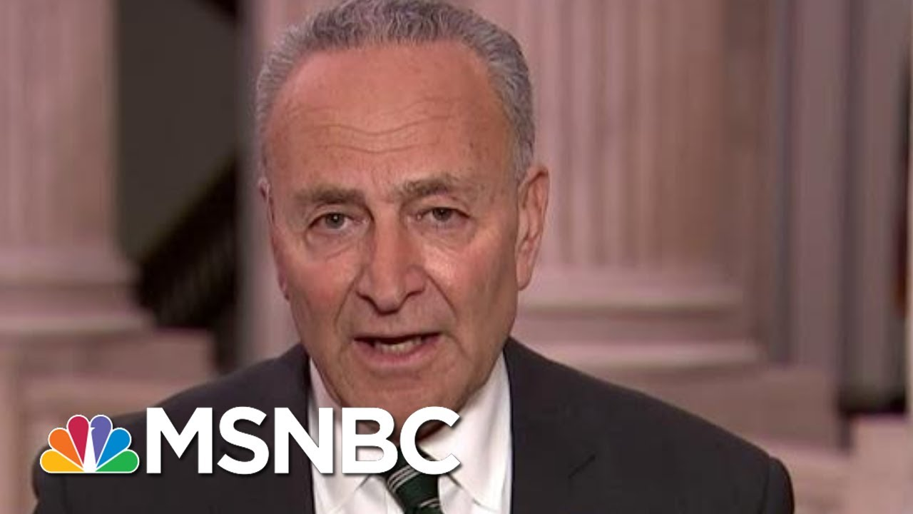 Chuck Schumer 'Feeling Better' About Possibility Of Fair Impeachment Trial   Rachel Maddow   MSNBC 1
