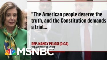 House Set to Vote Tomorrow On Moving Impeachment To The Senate | Deadline | MSNBC 6