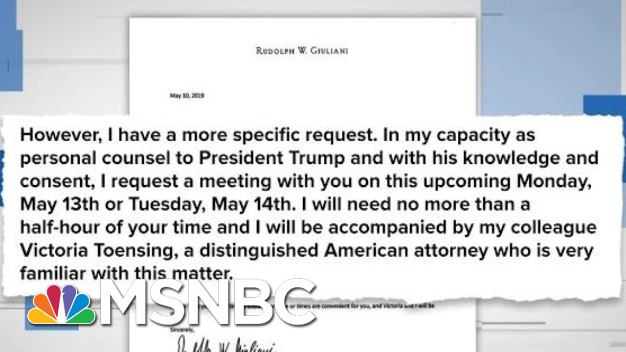 See The Bombshell Letter: Giuliani Had Trump's 'Knowledge And Consent' For Secret Ukraine Meeting 3
