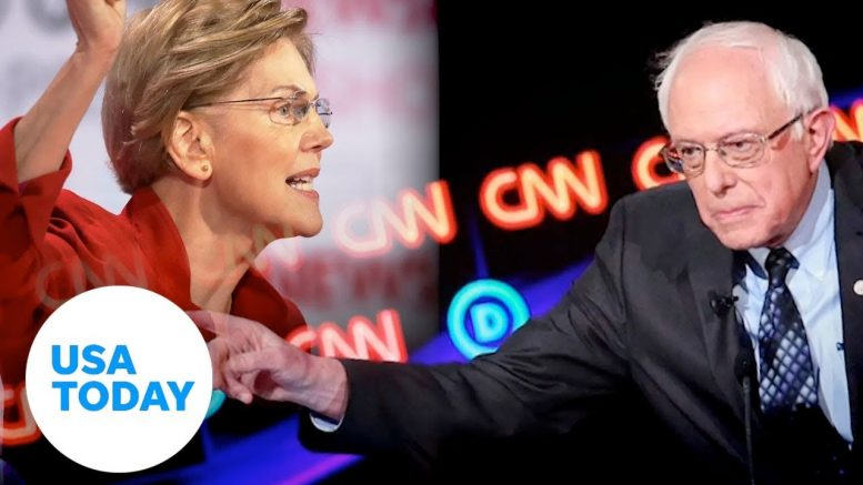 Sanders denies telling Warren a woman couldn't beat Trump | USA TODAY 1