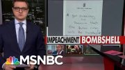 House Releases 'Incredibly Incriminating' Trove Of Documents From Lev Parnas | All In | MSNBC 3
