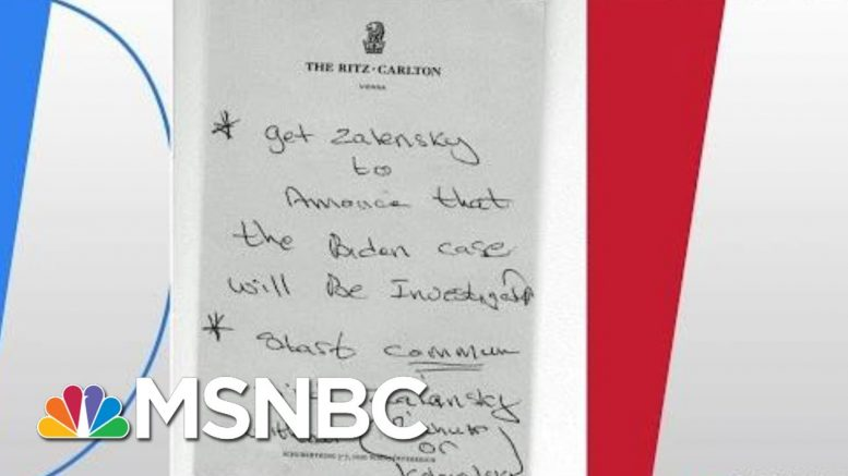 Giuliani Note: 'Get Zelensky To Announce... The Biden Case Will Be Investigated' | Hardball | MSNBC 1