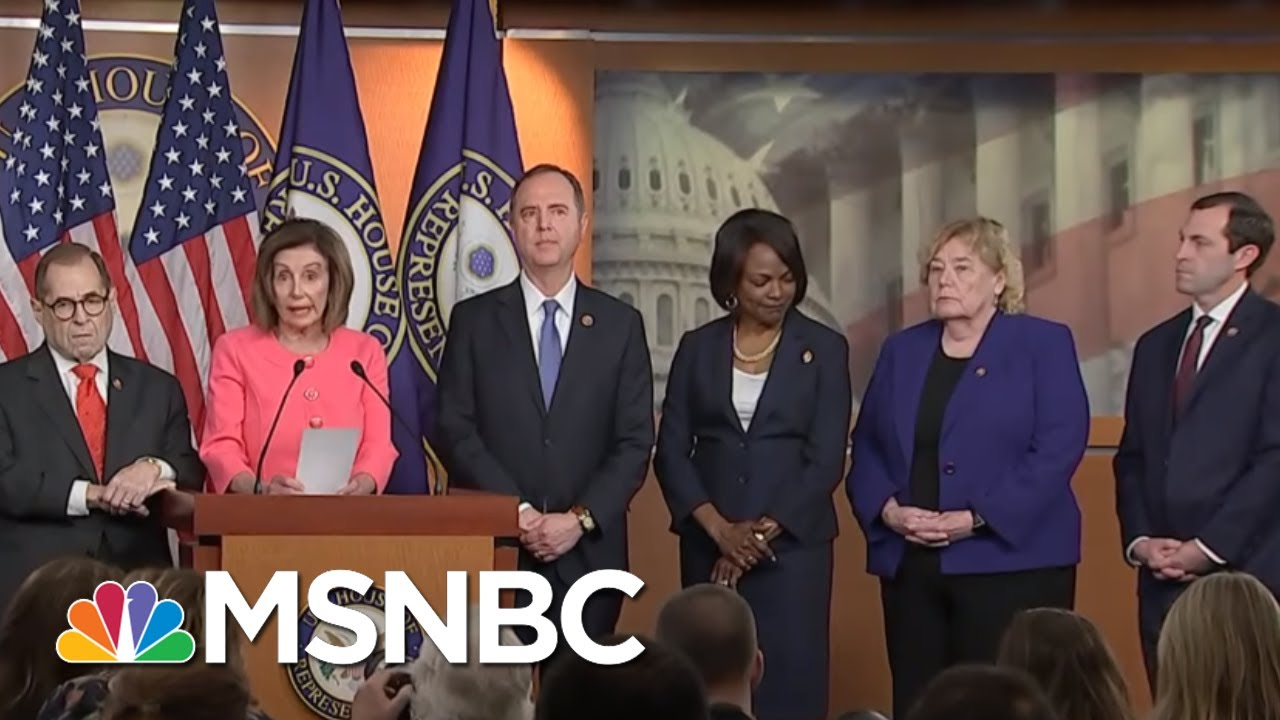 Nancy Pelosi Chooses Diverse, 'Talented' Team Of Litigators To Prosecute Trump | MSNBC 8