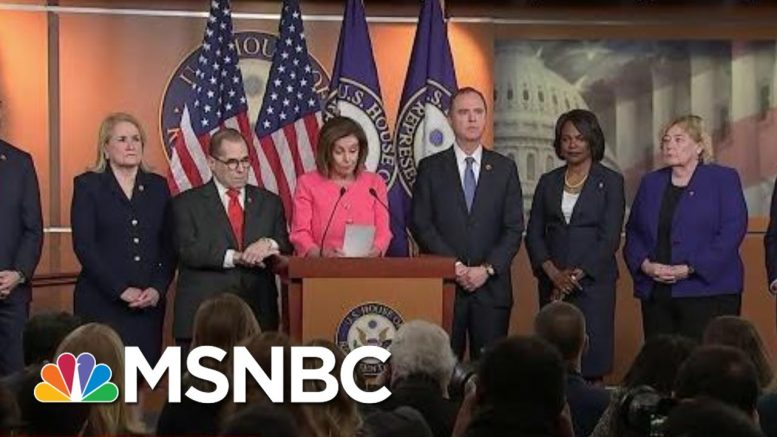 New Incriminating Evidence Against President As House Votes To Send Articles   Deadline   MSNBC 1