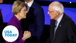 Can a woman win the presidency? Bernie Sanders answers on the debate stage | USA TODAY 2
