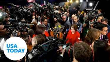 Behind the scenes look of the CNN/Des Moines Register Debate spin room | USA TODAY 6