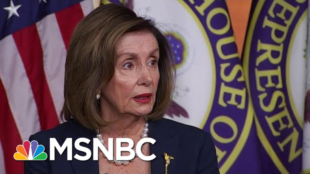 Nancy Pelosi: Government Watchdog 'Confirmed' Withholding Aid From Ukraine Was Illegal   MSNBC 1