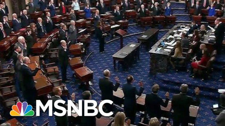 Chief Justice John Roberts Swears In Senators For Trump Impeachment Trial | MSNBC 1