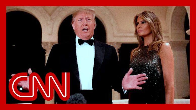 Trump speaks on Iraq protests and North Korea at NYE gala 1