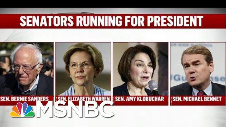 2020 Democratic Senators Leave The Trail For Trial | Deadline | MSNBC 1
