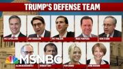 President Donald Trump Zeroes In On Defense Team As Trial Begins | Deadline | MSNBC 5
