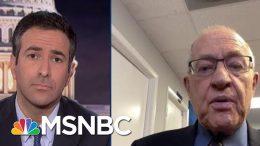 Watch: New Trump Lawyer Dershowitz Reveals Plan For Trump Trial Defense On Live TV   MSNBC 1