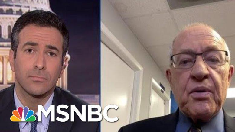 Watch: New Trump Lawyer Dershowitz Reveals Plan For Trump Trial Defense On Live TV | MSNBC 1