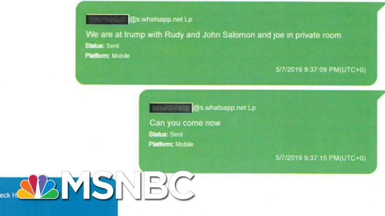 House Releases New Evidence That Show Texts Between Parnas, Devin Nunes Staffer | Hardball | MSNBC 1