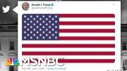 Trump Responds To US Strike Killing Iran's Military Leader With Flag Tweet | The 11th Hour | MSNBC 5