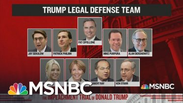 Meet The Trump Impeachment Defense Team | The Day That Was | MSNBC 10