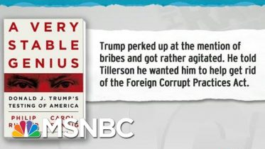 Trump Sought To Get Rid Of Foreign Corrupt Practices Act: Book | Rachel Maddow | MSNBC 6