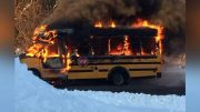 Ont. bus driver hailed as a hero for saving children after school bus burst into flames 5