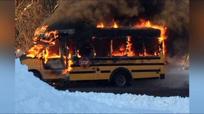 Ont. bus driver hailed as a hero for saving children after school bus burst into flames 1
