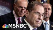 President Donald Trump Refers To Rep. Jerry Nadler As 'Sleazebag' At Davos | Morning Joe | MSNBC 4